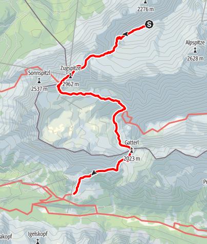 Karte / Alpenüberquerung Etappe 1