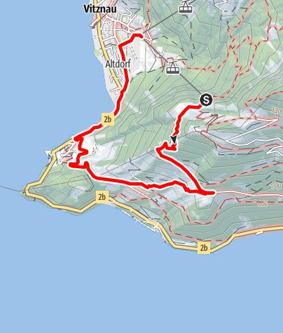 Karte / Kleine Rundtour Vitznau - Wissifluh - Vitznau
