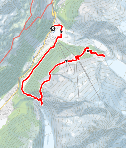 Map / Tete des Prapators - Lognan - Glacier Argentiere