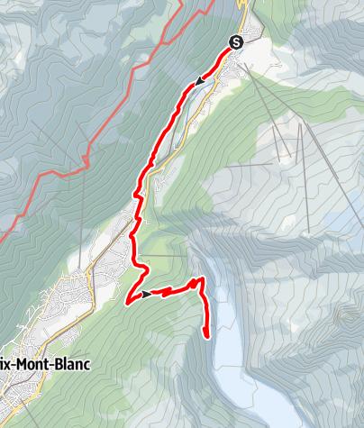 Map / Le Montenvers