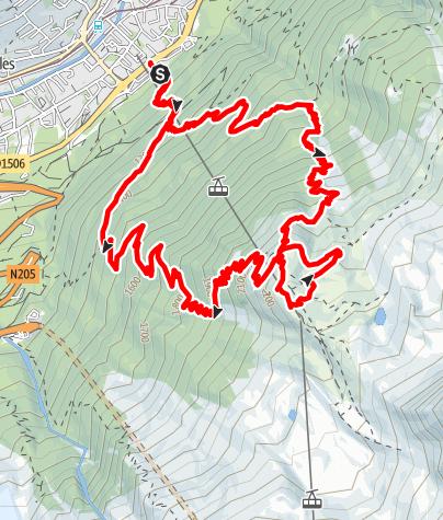 Map / Plan de l'Aiguille