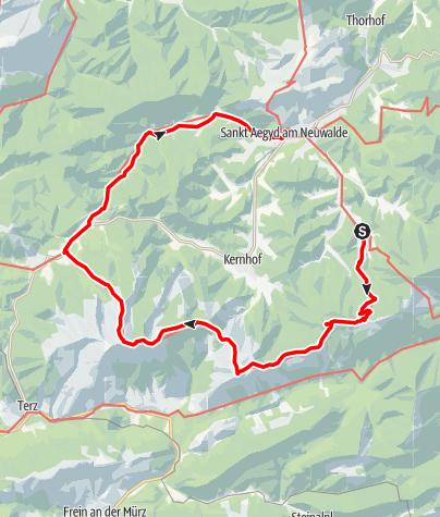Karte / Vom Gippel zum Göller