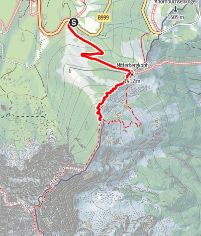 Map / Hüttentour Berchtesgaden - Etappe 1: Enzianhütte - Eckersattel - Purtschellerhaus