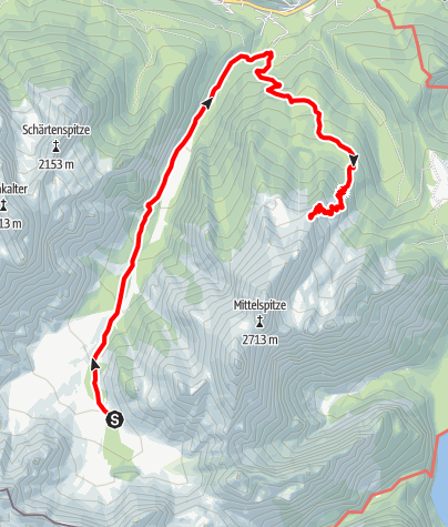 Map / Hüttentour Berchtesgaden - Etappe 6: Wimbachgrieshütte - Wimbachschloss - Watzmannhaus