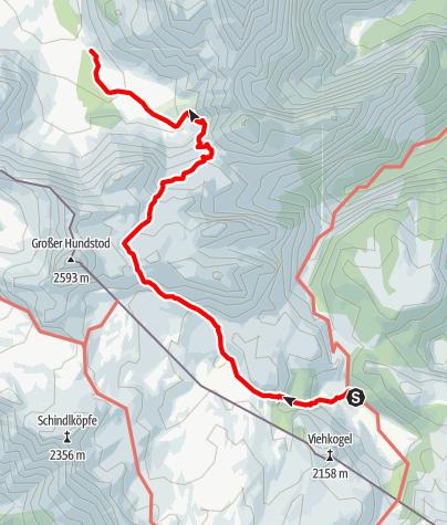 Map / Hüttentour Berchtesgaden - Etappe 5: Kärlingerhaus - Trischübel - Wimbachgrieshütte
