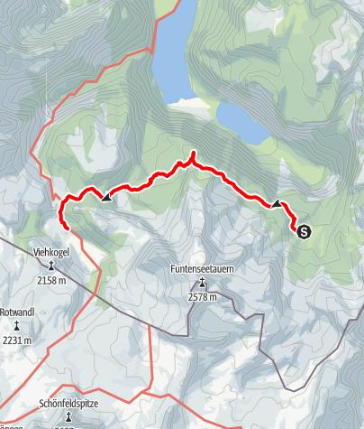 Karte / Hüttentour Berchtesgaden - Etappe 4: Wasseralm - Halsköpfl - Kärlingerhaus