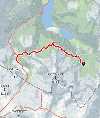 Map / Hüttentour Berchtesgaden - Etappe 4: Wasseralm - Halsköpfl - Kärlingerhaus