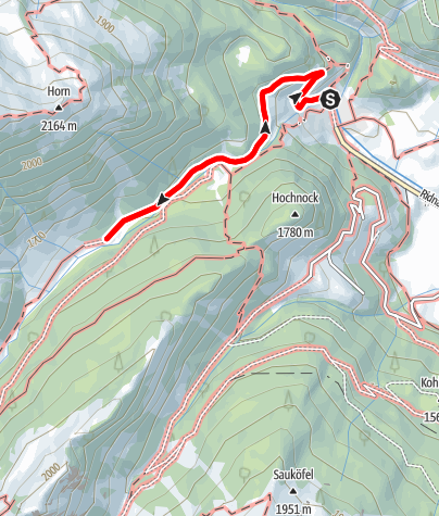 Map / Winter hike to the Stadlalm in the Ridnauntal Valley