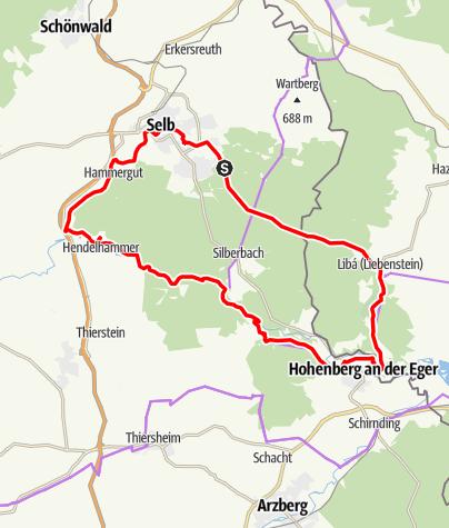 Karte / Radtour der Familiengruppe