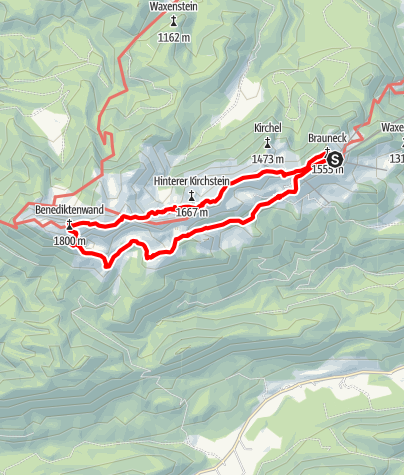Karte / Brauneck-Benediktenwand-Runde