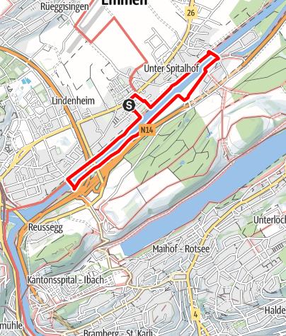 Map / PW Emmen LU, 5 km Strecke