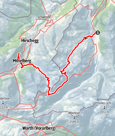 Karte / Fellhorntour Kleinwalsertal (3 Tage)