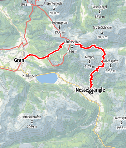 Karte / Tannheimer Tal (3 Tage)