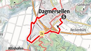 Map / PW Dagmersellen LU, 5 km Strecke
