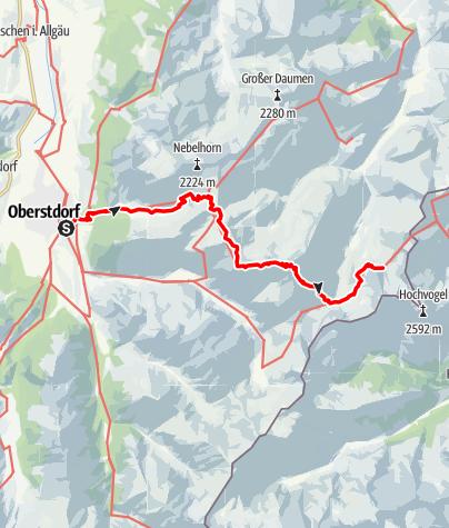 Karte / Alpenquerung: Tag 1