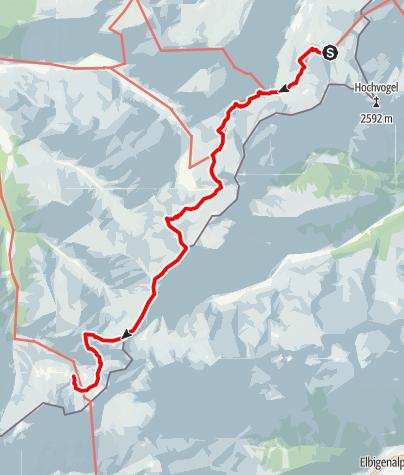 Karte / Alpenquerung: Tag 2