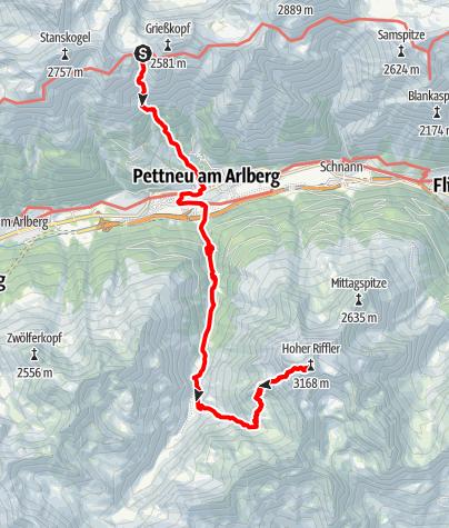Karte / Alpenquerung: Tag 5