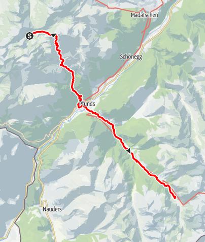 Karte / Alpenquerung: Tag 7