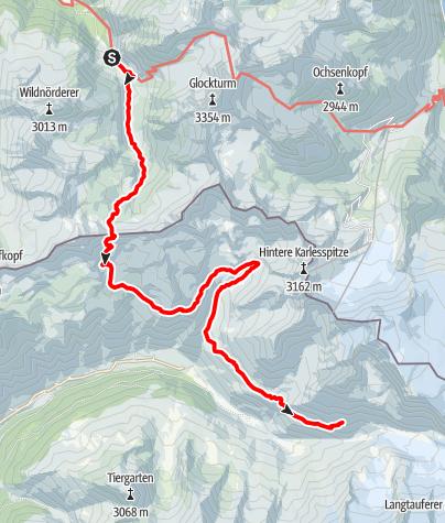 Karte / Alpenquerung: Tag 8