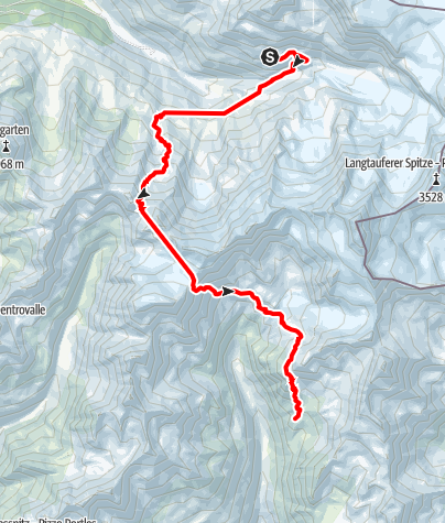 Karte / Alpenquerung: Tag 9