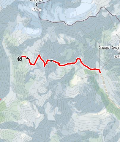 Karte / Alpenquerung: Tag 10