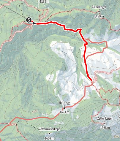 Map / Kaiserkrone - Kufstein approach, Kaiserlift