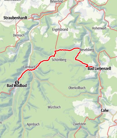 Karte / Bad Wildbad - Bad Liebenzell