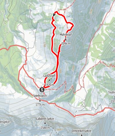 Karte / Von der Falkenhütte auf den Mahnkopf (Karwendelgebirge)