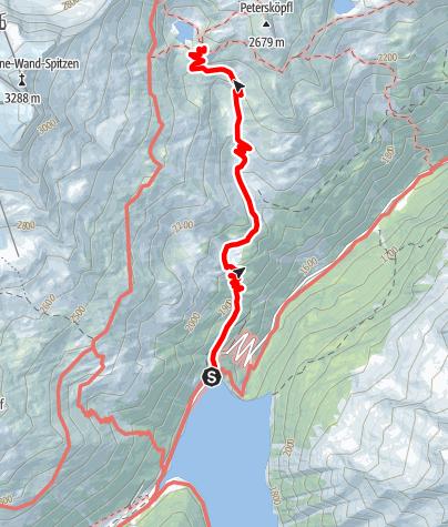 Karte / Friesenberghaus: Zustieg vom Schlegeis