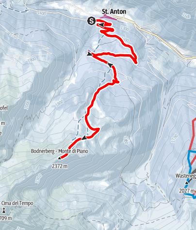Karte / Skitour auf den Bodner Berg