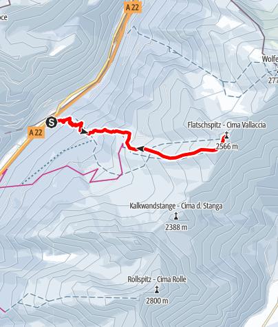 Karte / Skitour auf die Flatschspitze