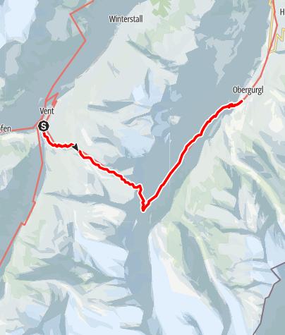 Karte / Schalfkogeljoch 3189m