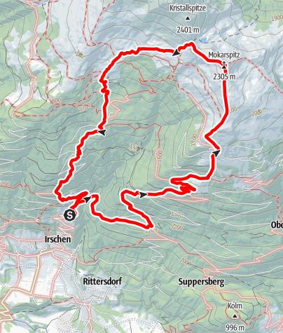 Karte / Mokarspitz (2.305m)
