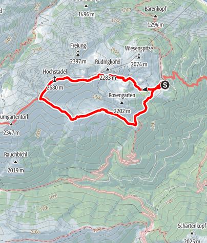 Karte / Hochstadel (2.681m)