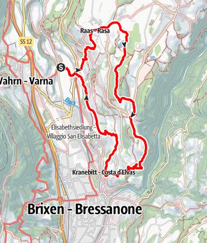 Karte / Neustift-Raas-Elvas-Gugger
