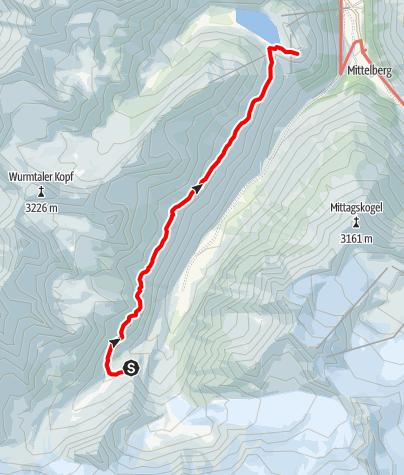 Karte / Fuldaer Höhenweg Taschachhaus - Riffelseehütte