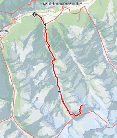 Karte / Schwere Bergtour auf den Keeskogel