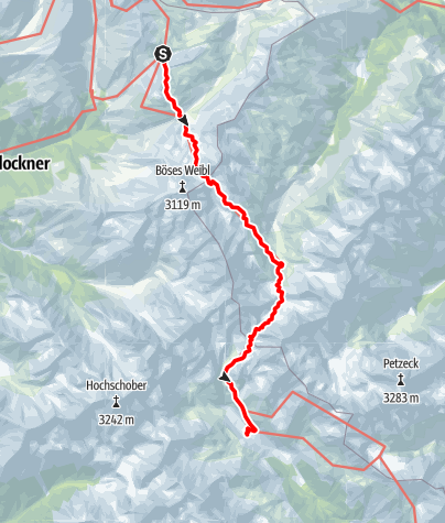 Karte / JNG18-5 Glorerhütte - Elberfelder Hütte - Lienzer Hütte