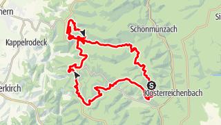 Karte / Ganztages Gipfeltour in Baiersbronn und dem Nationalpark