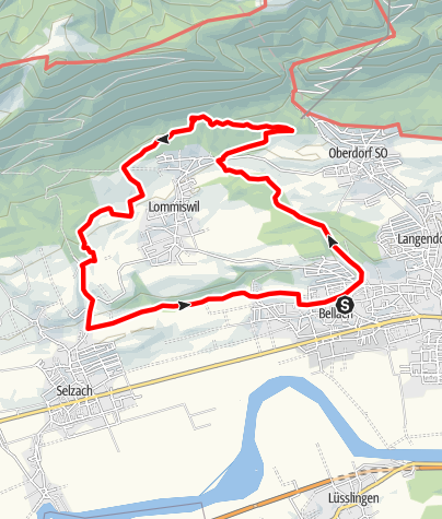 Map / PW Bellach SO, 16 km