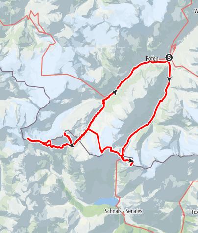 Karte / Hochtour Ötztaler Alper September 2016