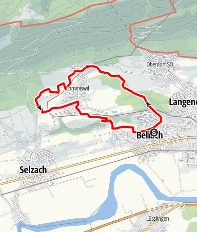 Map / PW Bellach 12 km