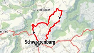 Map / PW Schwarzenburg BE, 12 km Strecke