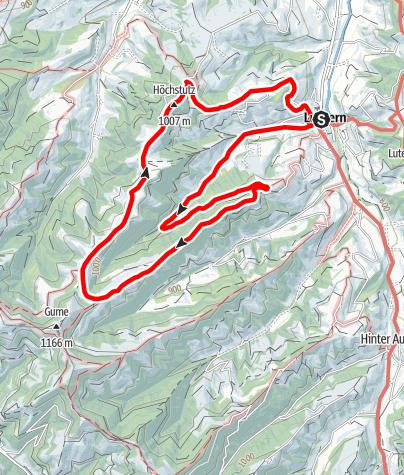 Map / PW Luthern LU, 10 km