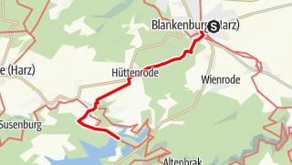 Karte / Blankenburg zur Hängeseilbrücke
