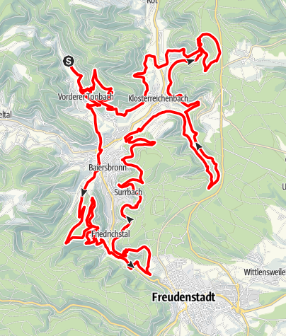Karte / Trailtour Baiersbronn