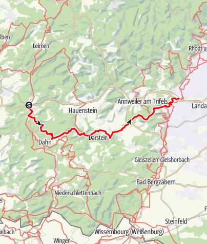 Map / Pfälzer Hüttentour - Von Hinterweidental nach Siebeldingen