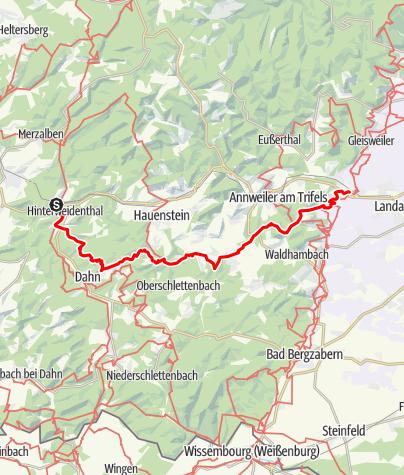 Karte / Pfälzer Hüttentour - Von Hinterweidental nach Siebeldingen