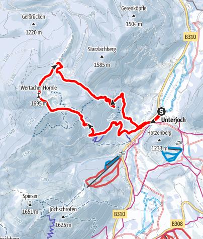 Karte / Wertacher Hörnle