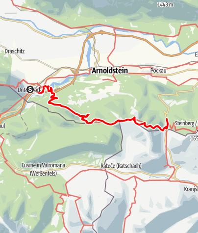 Karte / Von Unterthörl zum Wurzenpass - Der Südalpenweg - Von Bozen nach Osten - 19. Tag